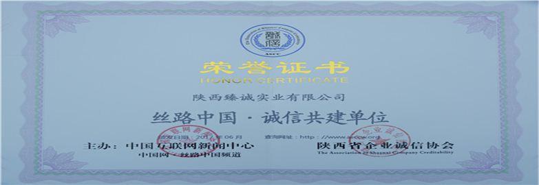 yabo手机客户端下载臻诚实业集团有限公司荣誉证书